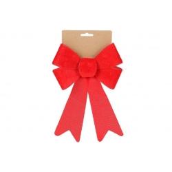 Бант декоративный из бархата 16*25см, цвет - красный