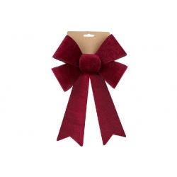 Бант декоративный из бархата 20*30см, цвет - бордо
