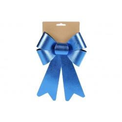Бант декоративный 16*25см, цвет - атласный синий