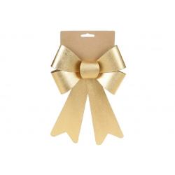 Бант декоративный 16*25см, цвет - атласный золотой