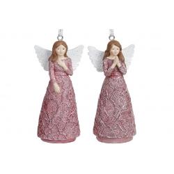 Декоративная подвесная фигурка Ангел, 2 вида, 11см, цвет - пурпурный