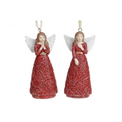 Декоративная подвесная фигурка Ангел, 2 вида, 11см, цвет - бордо