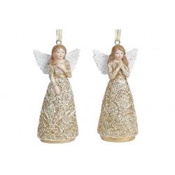 Декоративная подвесная фигурка Ангел, 2 вида, 11см, цвет - золотой