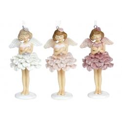 Декоративная подвесная фигурка Ангел с сердцем, 12см, 3 вида