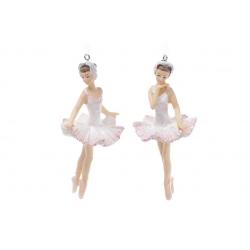 Декоративная подвесная фигурка Балерина 11см, цвет - светло-розовый, 2 вида