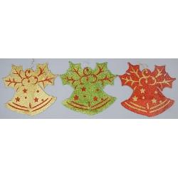 Новогоднее панно Колокольчики, 32см, 3 вида