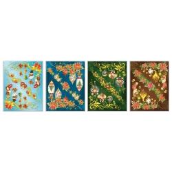 Новогодний стикер бесклеевый 42см, 4 вида