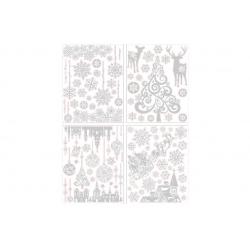 Стикер оконный с глиттером, 41*29см, 4 вида