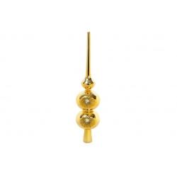 Верхушка на елку 25см фигурная, цвет - яркое золото
