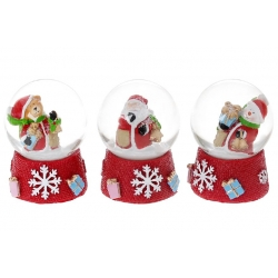 Декоративный водяной шар 6.3см, 3 вида - Санта, Мишка, Снеговик