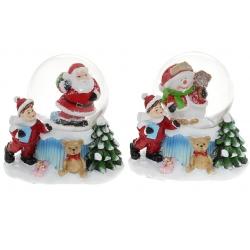Декоративный водяной шар 6.3см, 2 вида - Санта, Снеговик