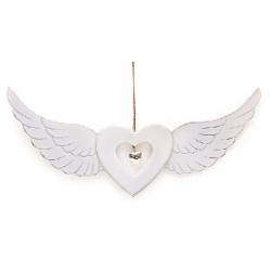 Декор подвесной 42.7см Сердце с крыльями