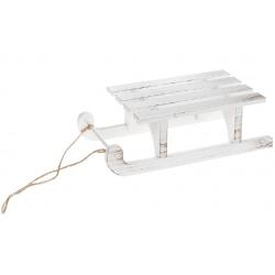 Декоративные Сани 20см, цвет - состаренный белый