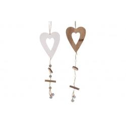 Декоративная подвеска Сердце с декором 33см, 2 вида