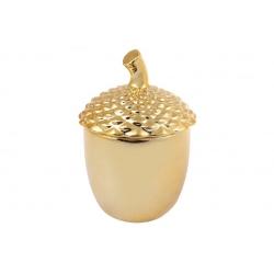Банка керамическая Желудь, 150мл, цвет - золото