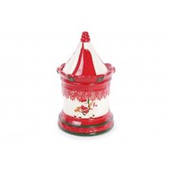 Банка керамическая для хранения сладостей 1.4л Карусель