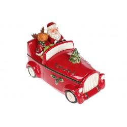 Банка для сладостей Санта в машине, 1.5л