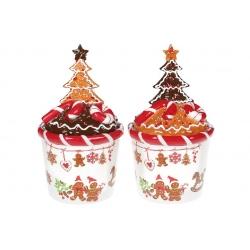 Банка для сладостей керамическая Печенье 650мл, 2 вида
