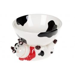 Пиала керамическая 500мл с фигуркой Веселая коровка