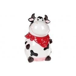 Банка керамическая 1600мл с фигурной крышкой Веселая коровка