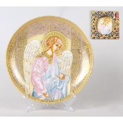 Тарелка декоративная 18.4см с пластиковой подставкой Ангел-хранитель