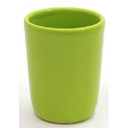 Стаканчик керамический для ванных принадлежностей 8.5см зеленый