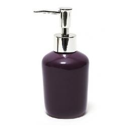 Диспенсер керамический для жидкого мыла/лосьона 15.3см баклажан