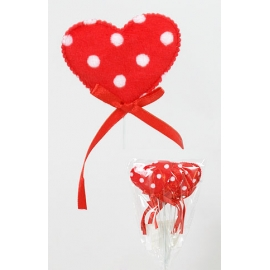 Набор декоративных украшений (6 шт) Сердце 6см
