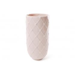 Ваза керамическая 21 см, цвет - светло-розовый