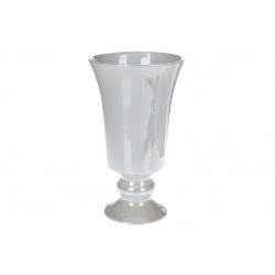 Ваза керамическая Кубок, серый