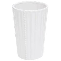 Ваза керамическая Одри, 16см, цвет - белый