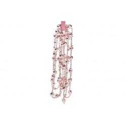 Бусы пластиковые фигурные, цвет - розовый, 14мм*2.7м