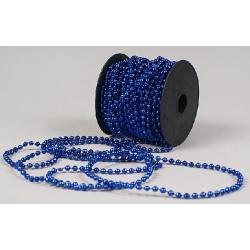Бусы пластиковые синие 4мм*15м