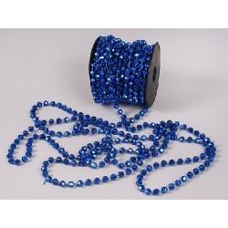 Бусы пластиковые синие 8мм*10м