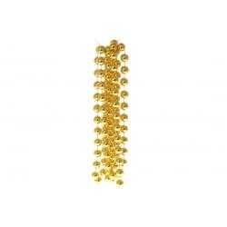Бусы пластиковые, цвет - яркое золото