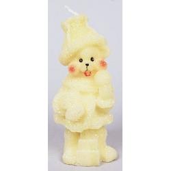 Декоративная новогодняя свеча Мишка 13.8см