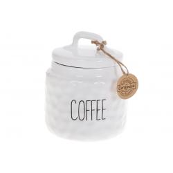 Банка керамическая для хранения Кофе 800мл Bianco, цвет - белый