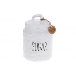 Банка керамическая для хранения Сахар 1500мл Bianco, цвет - белый