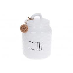 Банка керамическая для хранения Кофе 1500мл, Bianco, цвет - белый