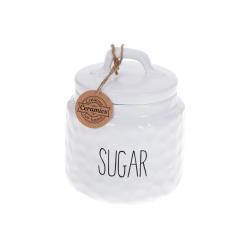 Банка керамическая для хранения Сахар 800мл Bianco, цвет - белый