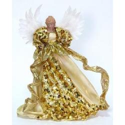 Верхушка на елку Ангел 40см золото
