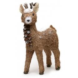 Декоративная фигура Лесной олень в снегу 45см