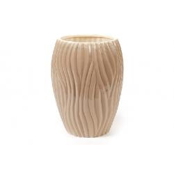 Ваза керамическая 22см Волна, цвет - кофейный