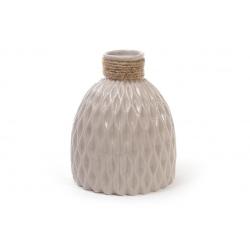 Ваза керамическая 18см, цвет - песочный