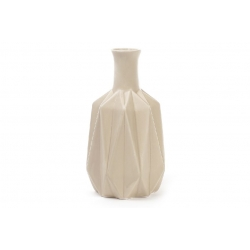 Ваза керамическая 20см, цвет - песочный