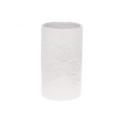 Ваза керамическая 19см, цвет - белый