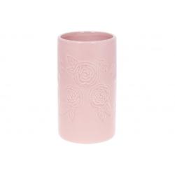 Ваза керамическая 19см, цвет - розовый