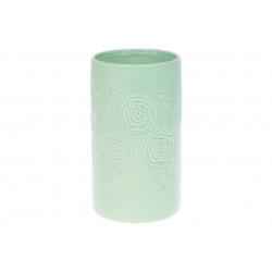Ваза керамическая 19см, цвет - зеленая мята