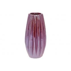 Ваза керамическая 17см, цвет - бордо перламутр