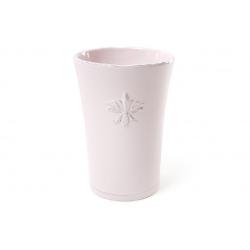 Ваза керамическая 17 см, цвет - светло-розовый